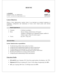 Linux System Administrator Resume Sample by Linux Administration Sample Resumes 100 Manager Sample Resume