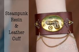 epbot diy steampunk resin u0026 leather cuff