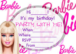 Invitation Cards Baptism Attractive Barbie Birthday Invitation Cards 14 In Invitation Card