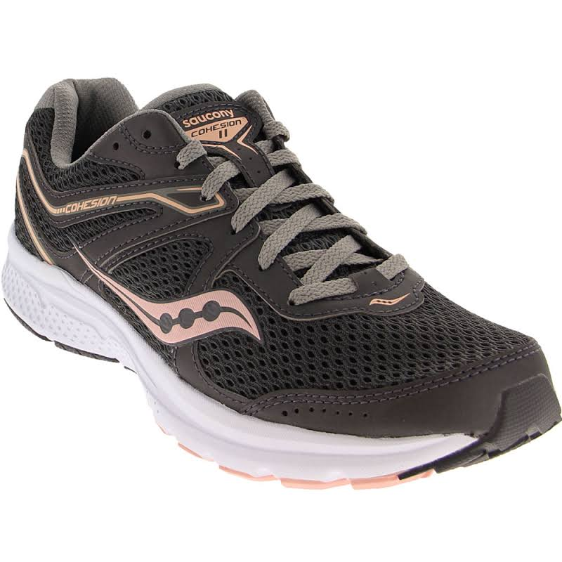 Saucony Grid Cohesion 11 Fitness Running Shoes Gray 9.5 Medium (B,M)