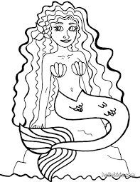 mermaid coloring pages hellokids com