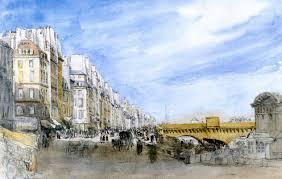 David Cox by Pont Neuf From The Quai De L U0027ecole Paris 1829 David Cox