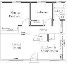 two bedroom apartment floor plans