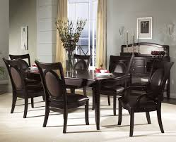 stunning dining room table leather chairs contemporary