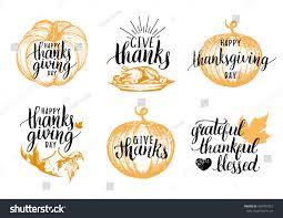 greeting for thanksgiving vector thanksgiving lettering invitations festive greeting stock