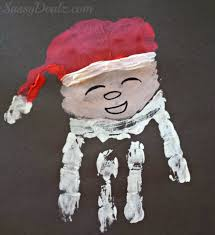 santa claus handprint christmas craft for kids crafty morning