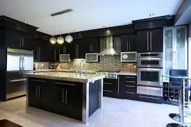 Dark Kitchen Cabinets With Backsplash Premium Cabinets And Granite U2013 Cabinets Granite And Flooring