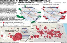 Chicago Suburbs Map Wide Awake New O U0027hare Flight Paths Spark Complaints Far Beyond