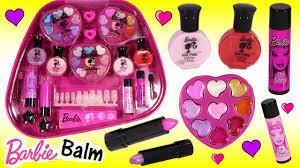 barbie jet set makeup case lip balm lip gloss palette paint