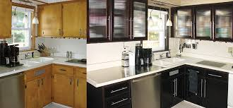 Kitchen Cabinet Refacing Diy by Diy Kitchen Cabinets Makeover How To Install New Cabinet Glass