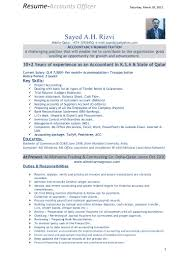 Officer Resume Resume Of Accounts Officer
