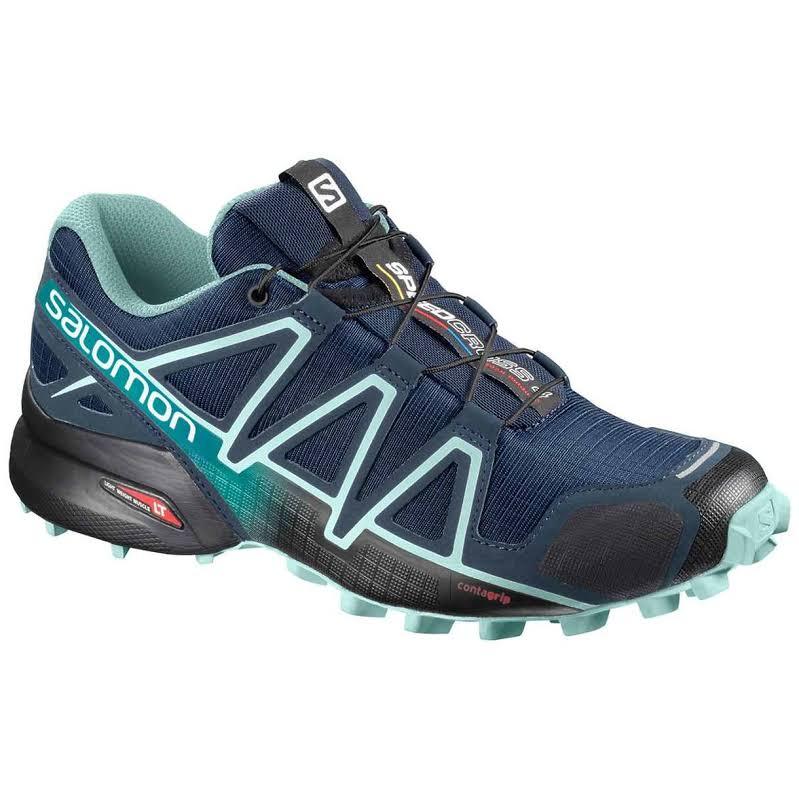 Salomon Speedcross 4 Trail Shoes, Wide Blue