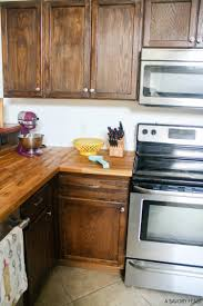 decor schiffini end grain butcher block counters for kitchen butcher block counters with brown cabinets ans stove for kitchen decoration ideas