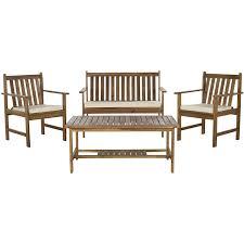 Outdoor Furniture Finish by Amazon Com Safavieh 4 Piece Outdoor Collection Burbank Patio Set