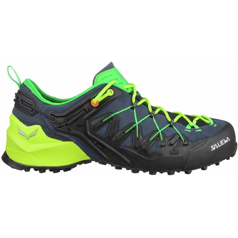 Salewa Wildfire Edge Climbing Shoes Ombre Blue/Fluo Yellow 11 00-0000061346-3840-11