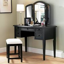 Linon Home Decor Vanity Set With Butterfly Bench Black Vanity Bench Bedroom With Lights Regard To Artistic Black Set