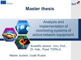 Master thesis Analysis and implementation of monitoring systems of