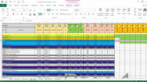 Project Management Spreadsheet Monitor And Control Excel Sheet Youtube