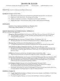 Human Resources Resume Samples by Resume For International Human Resources Susan Ireland Resumes
