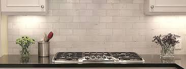 Linear Random Strip Carrara Mosaic Tiledaily Tiledaily Tile - Carrara tile backsplash
