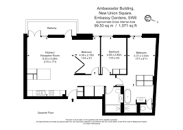 50 Sq M To Sq Ft 3 Bedroom Apartments To Rent In Ambassador Building 5 New Union