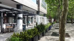 Outdoor Seating by Early Look At Le District U0027s Outdoor Seating Batterypark Tv We Inform