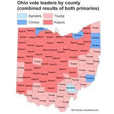 Toledo Ohio Zip Code Map by John Kasich Tops All Republicans Democrats In 53 Of Ohio U0027s 88