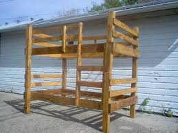 Plans For Building Bunk Beds by Bunk Bed Plans Twin Children Adults Rustic