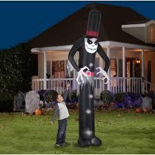 halloween decorations skeletons gemmy airblown inflatable 12 u0027 x 4 u0027 giant skelton halloween