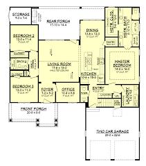 gorgeous open floor plan of craftsman house 142 1158 floor plan