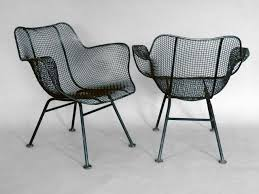 Mesh Patio Chair Set Of Eight Woodard Steel Mesh Wrought Iron Arm Chairs At 1stdibs
