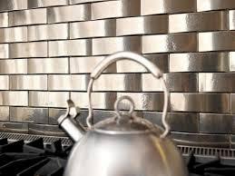 glass tiles for kitchen backsplashes kitchen metal tile backsplashes hgtv stainless steel subway