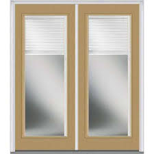 exterior door with blinds between glass blinds between the glass steel doors front doors the home depot