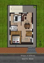 way2nirman 100 sq yds 25x36 sq ft south face house 2bhk elevation