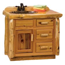 Bathroom Vanity 42 by Fireside Rustic Hickory Log Vanity 42 Inch