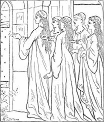10 virgins bible story coloring page give me oil in my lamp