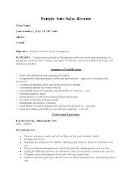 Resume Examples For Car Sales  u     BORH ipnodns ru