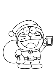 printable coloring pages christmas santa doraemon christmas