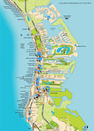 Map Of Western Caribbean by Map Of Seven Mile Beach Restaurants Grand Cayman Cayman Islands
