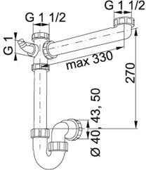 Siphon  Kitchen Sink Plumbing Kit - Kitchen sink plumbing kit