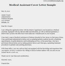 Medical Assistant Resume Cover Letter  resume objective for the