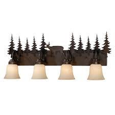 rustic vanity lighting u0026 cabin bathroom lights