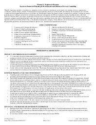 Espinosas Functional Resume Financial Planning  amp amp  Investments And Business Process Consulting