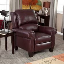 barcalounger ridley ii leather recliner with nailheads hayneedle