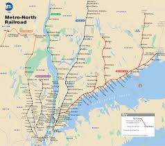 New York County Map by Metro North Map For New York City For Commuting Information From