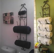 bathroom sensational black iron wall mounted towel storage with
