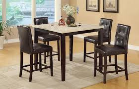 amazon com counter height table with faux marble top and 4 high