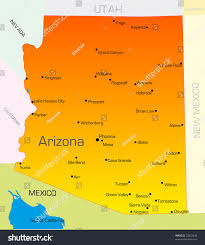Map Of Arizona by Vector Color Map Arizona State Usa Stock Vector 25832440