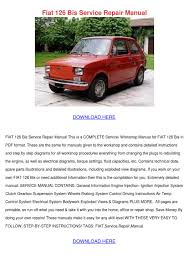 fiat 126 bis service repair manual by elissadelgado issuu