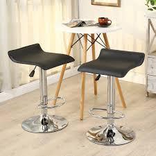leather saddle bar stools amazon com belleze set of 2 leather modern adjustable swivel